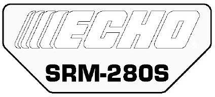 ECHO X547000810 MODEL LABEL - SRM-280S