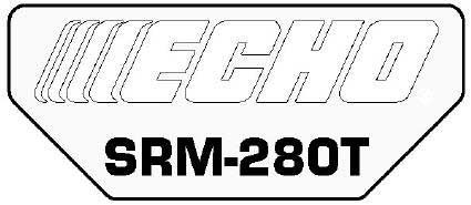 ECHO X547000820 MODEL LABEL - SRM-280T