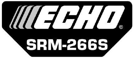 ECHO X547001980 MODEL LABEL - SRM-266S