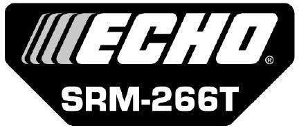 ECHO X547001990 MODEL LABEL - SRM-266T
