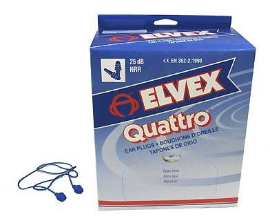 ELVEX EP-411 QUATTRO CORDPLUGS 25NRR (PER 100)