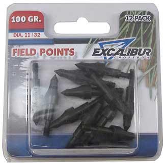 EXCALIBUR EXCALIBURTP100-12 FIELD POINTS, 21/64, 100 GR. 12PK