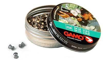 GAMO GAMO632082454 HUNTER PELLETS RND NOSE (PER 250)