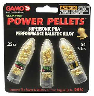 GAMO GAMO632264654 PBA RAPTOR PELLETS .25/BLISTER PK