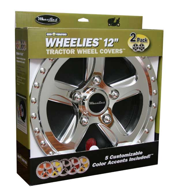 "GOOD VIBRATIONS GV182 12"" WHEELIES WHEEL COVERS"