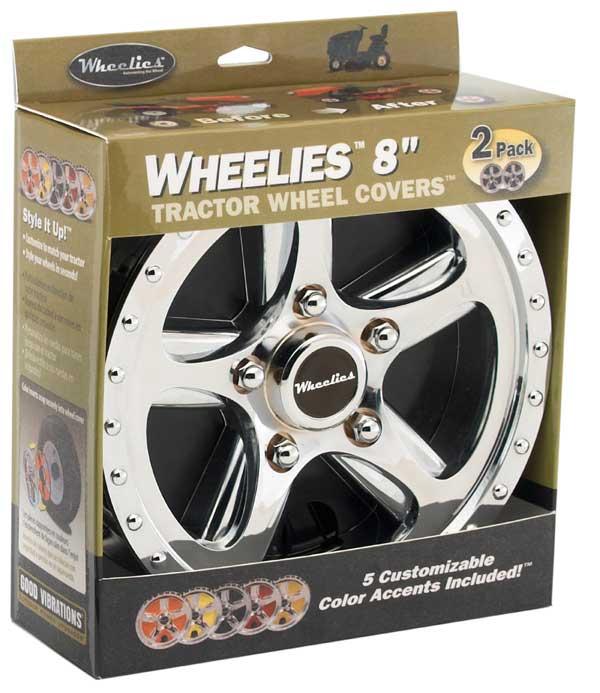 "Good Vibrations GV188 8"" Wheelies Tractor Wheel Covers"