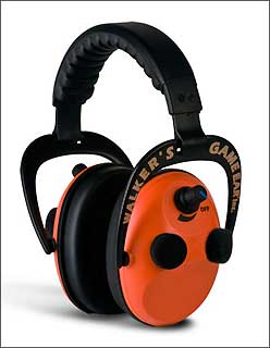 WALKERS GAME EAR GWP-PMQO POWER MUFF QUADS W/AFT ORANGE