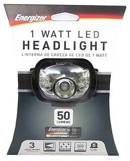 ENERGIZER HD5L33AE 5-LED HEADLIGHT - 50 LUMENS
