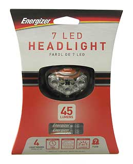 ENERGIZER HD7L33AE 7-LED HEADLIGHT
