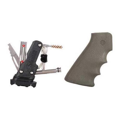 Hogue Hogue15013 AR-15 Rubber Grip w/Samson Field Survival Kit Olive Drab Green
