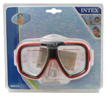 INTEX INTEX55974-R REEF RIDER MASK, RED, AGE8+