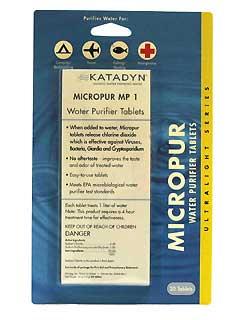KATADYN KATADYN8014996 MICROPUR TABLETS (PER 20)