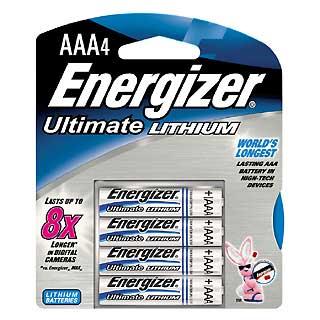 ENERGIZER L92BP-4 ULTIMATE LITHIUM AAA (PER 4)
