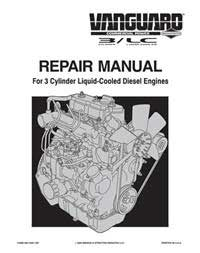 BRIGGS AND STRATTON MS1055 VANGUARD 3-CYLINDER OHV LIQUID COOLED DIESEL ENGINE REPAIR MANUAL