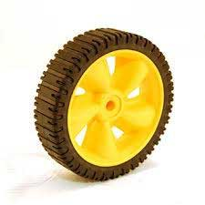 Mtd 734-04086 Yellow Wheel Assembly, 7 X 1.8