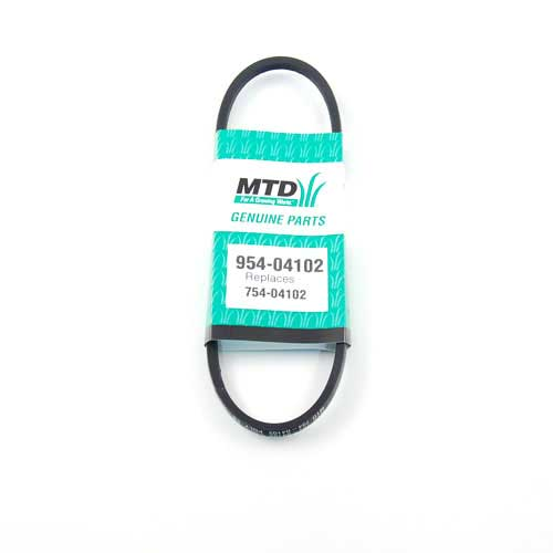 Mtd 954-04102 Snow Thrower Drive Belt: 3L: 25.00 Lg