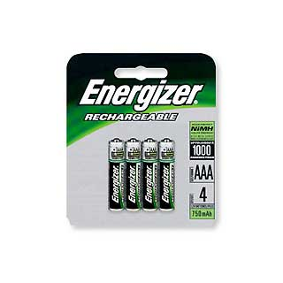 ENERGIZER NH12BP-4 RECHARGEABLE NIMH AAA (PER 4)