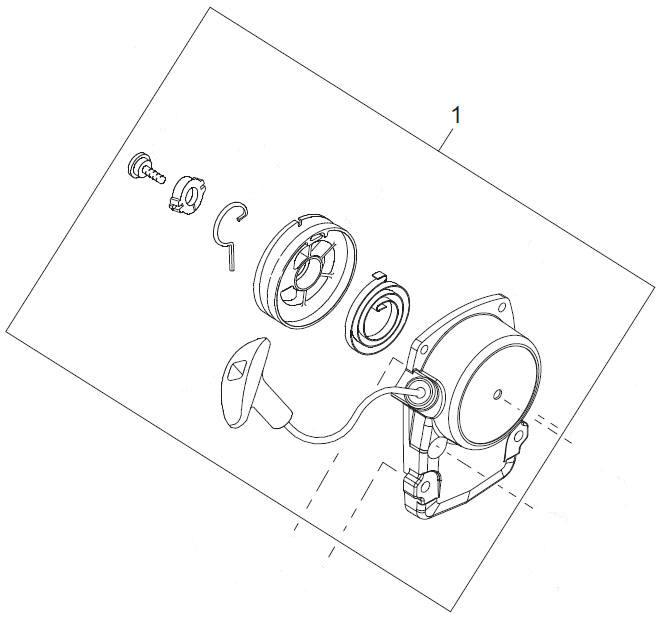 Shindaiwa A051001540 Recoil Starter Assembly
