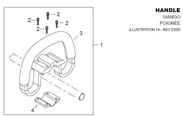 Shindaiwa AHS2510 Hedge Trimmer Handle Parts Diagram