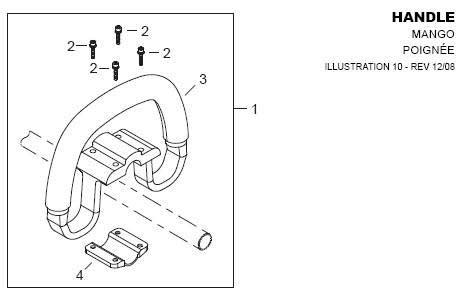 Shindaiwa AHS242 Handle Parts Diagram
