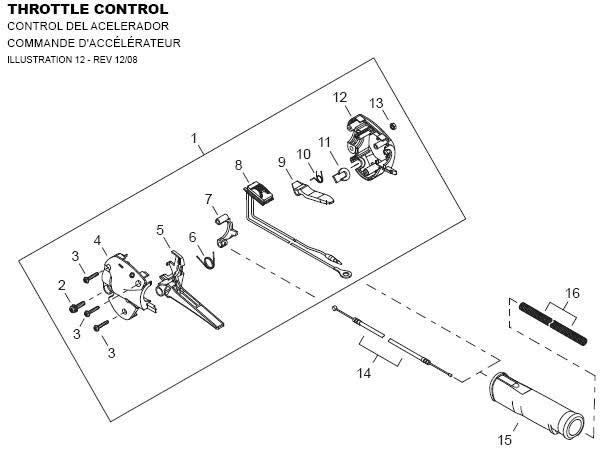 Shindaiwa AHS242 Throttle Control Parts Diagram
