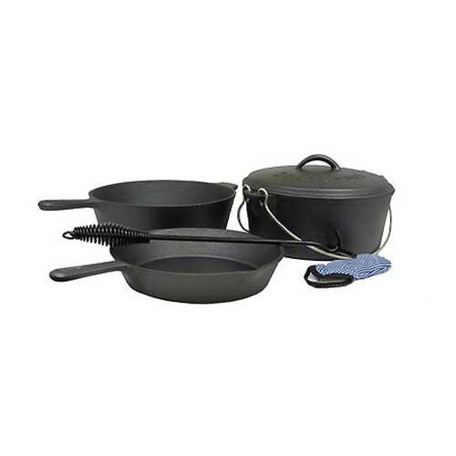 Stansport Stansport16903 Cast Iron PreSeason 6Pc Cook Set