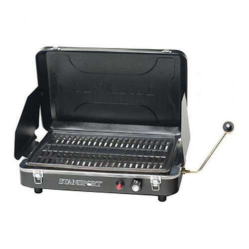STANSPORT STANSPORT203-900 PORTABLE PROPANE GRILL STOVE, BLK