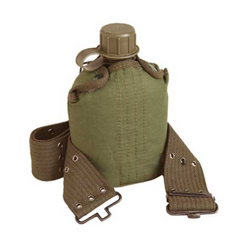 STANSPORT STANSPORT336 PLASTIC CANTEEN AND COVER SET, OD
