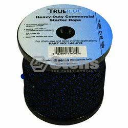Stens 146-915 #4-1/2 Solid Braid True Blue Starter Rope 100 FT Spool