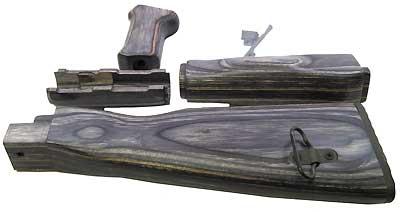 TAPCO TIM06000-BLACK TMBRSMTH AK47 WOOD FURNSET BLKLAM