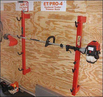 TrimmerTrap ET/TT-2 Pro-4 Enclosed Trailer Trimmer Rack (holds 4)
