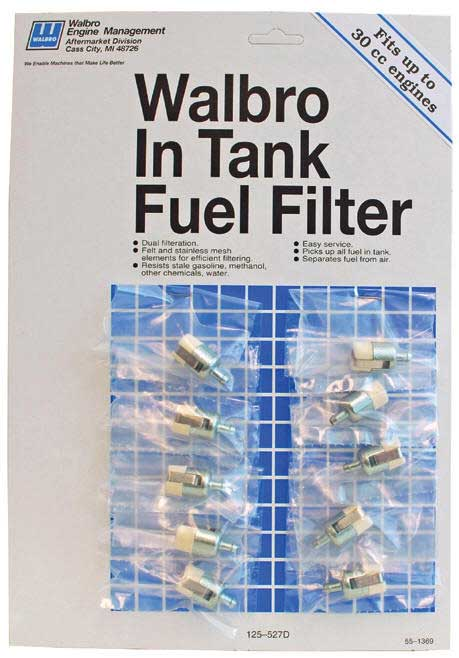WALBRO 125-527D IN-TANK FUEL FILTER DISPLAY -  UP TO 30cc (10)
